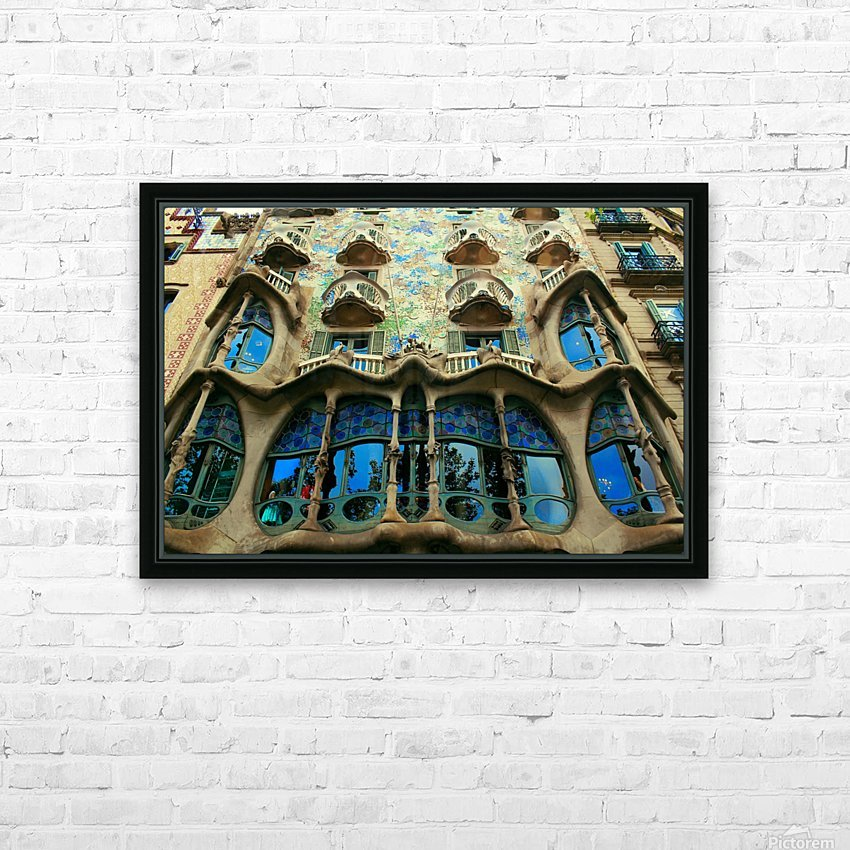 Casa Milla - Barcelona - Spain Landmark HD Sublimation Metal print with Decorating Float Frame (BOX)