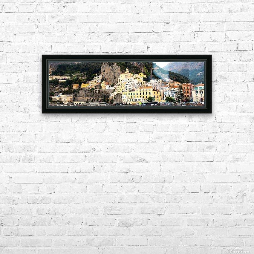 Amalfi Coast Super Panoramic  HD Sublimation Metal print with Decorating Float Frame (BOX)