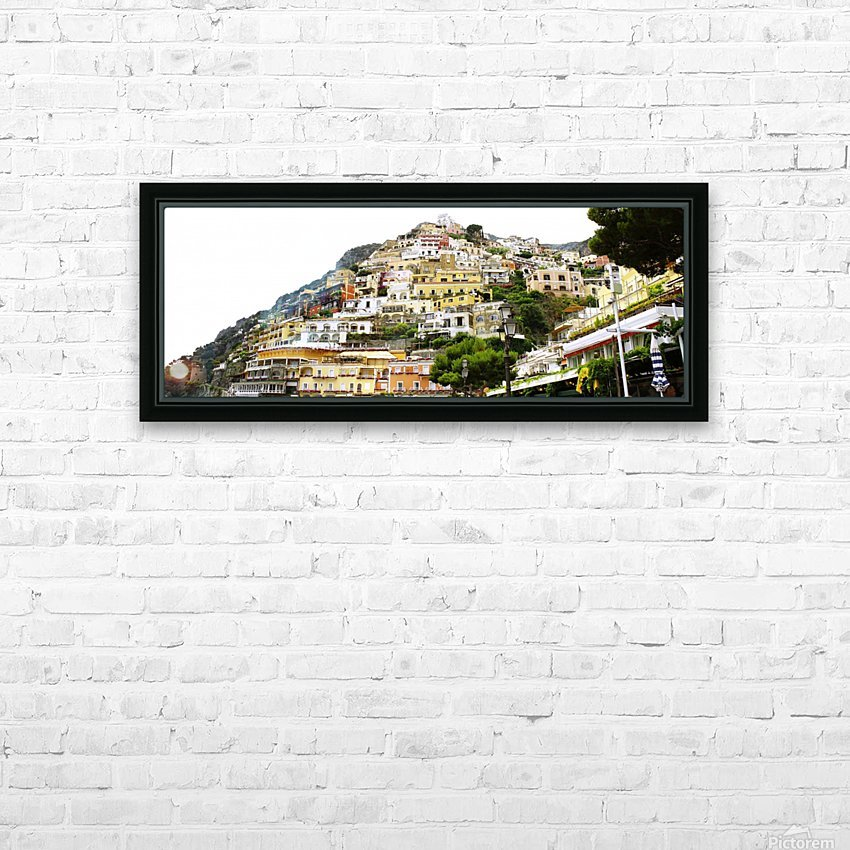 Italy Landscape - Positano HD Sublimation Metal print with Decorating Float Frame (BOX)