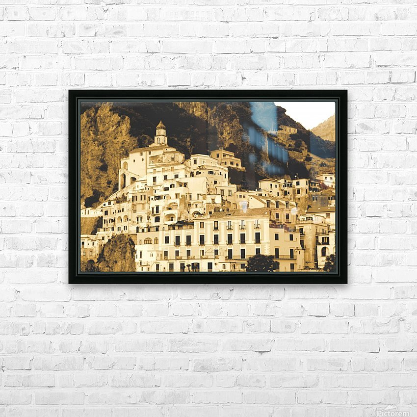 Landscape - Amalfi Village - Italy HD Sublimation Metal print with Decorating Float Frame (BOX)