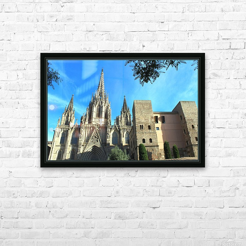 Amazing Barcelona Cathedral HD Sublimation Metal print with Decorating Float Frame (BOX)