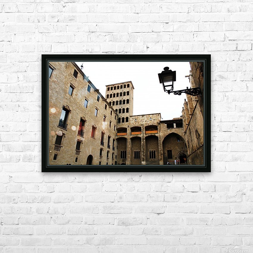 Gothic Quarter - Catalunya - Spain Landmark HD Sublimation Metal print with Decorating Float Frame (BOX)