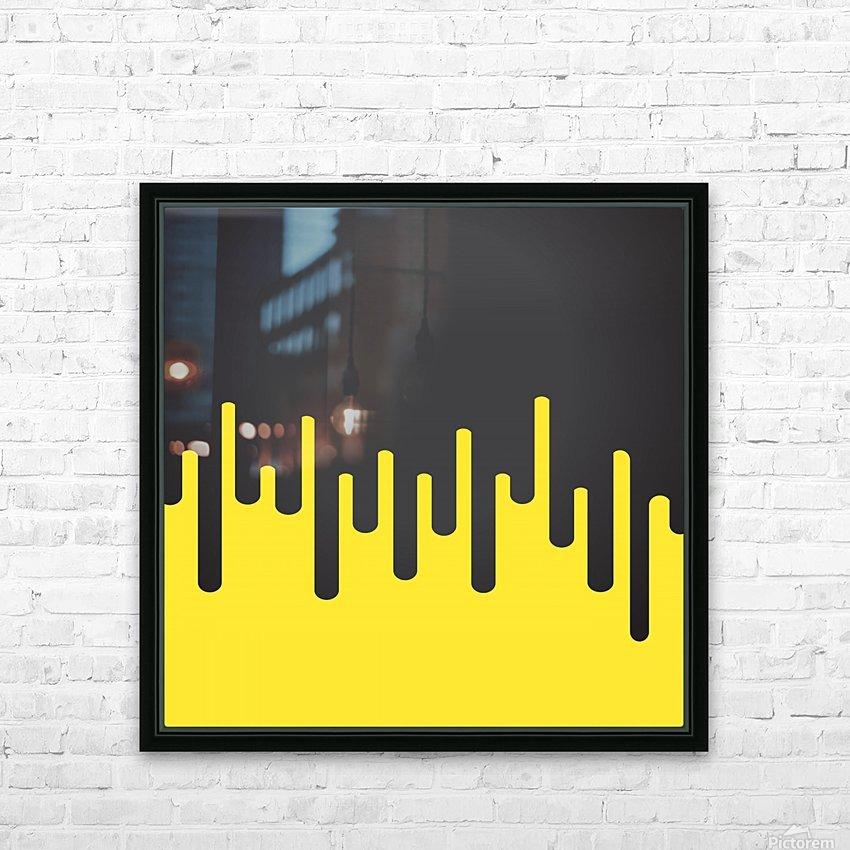 Lemon Ice Melting Ice Cream HD Sublimation Metal print with Decorating Float Frame (BOX)