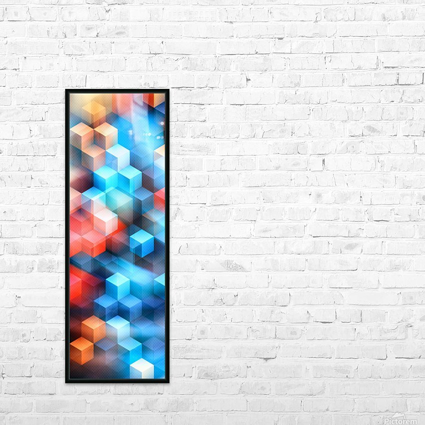 Abstract Design I   Panoramic HD Sublimation Metal print with Decorating Float Frame (BOX)