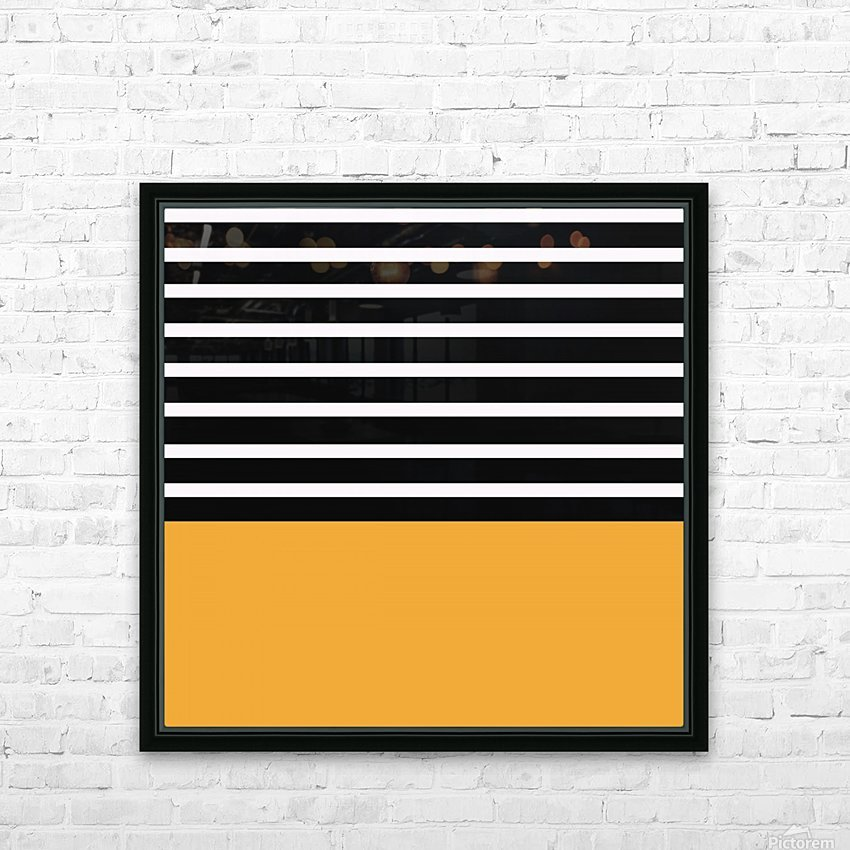 Black & White Stripes with Honey Patch HD Sublimation Metal print with Decorating Float Frame (BOX)