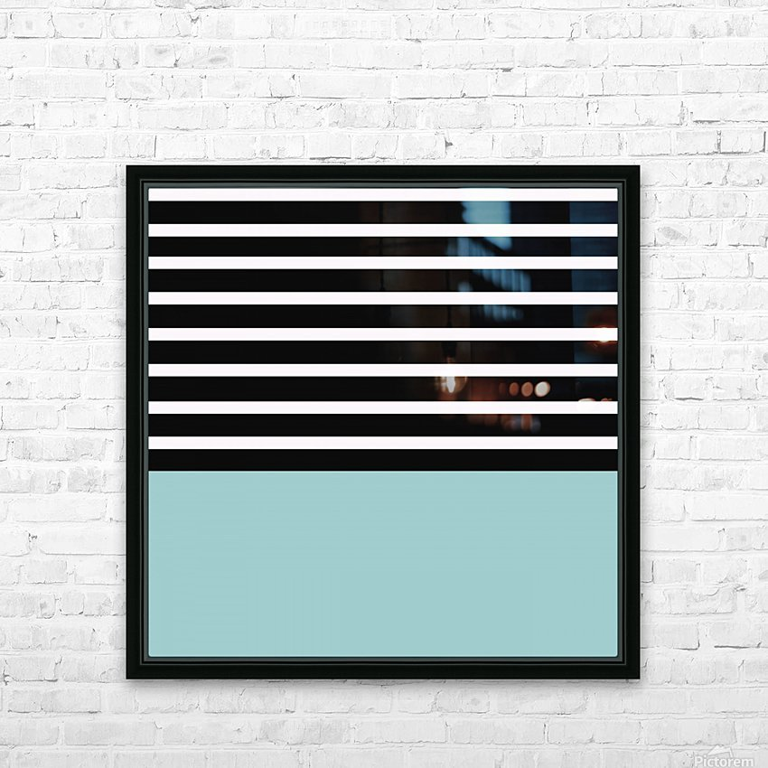 Black & White Stripes with Mist Patch HD Sublimation Metal print with Decorating Float Frame (BOX)
