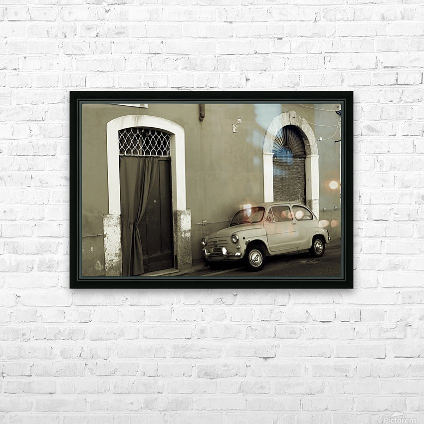 Vintage Car in Black and White HD Sublimation Metal print with Decorating Float Frame (BOX)