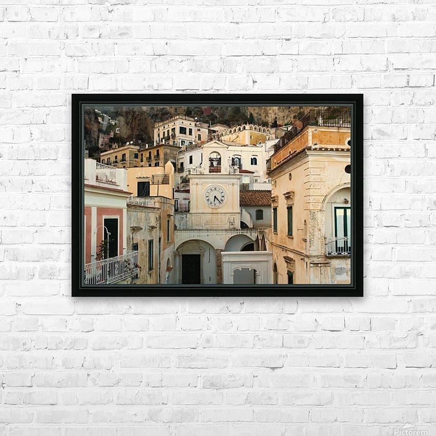 Church Clock - Italy  HD sublimation métal imprimé avec décoration flotteur cadre (boîte)