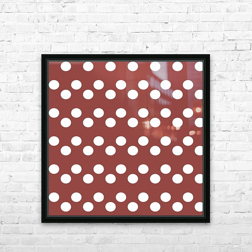 Chili Oil Polka Dots HD Sublimation Metal print with Decorating Float Frame (BOX)