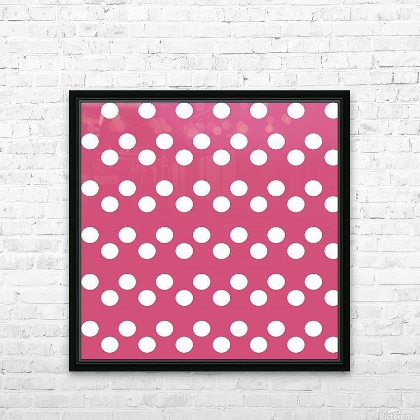 CRANBERRY Polka Dots HD Sublimation Metal print with Decorating Float Frame (BOX)