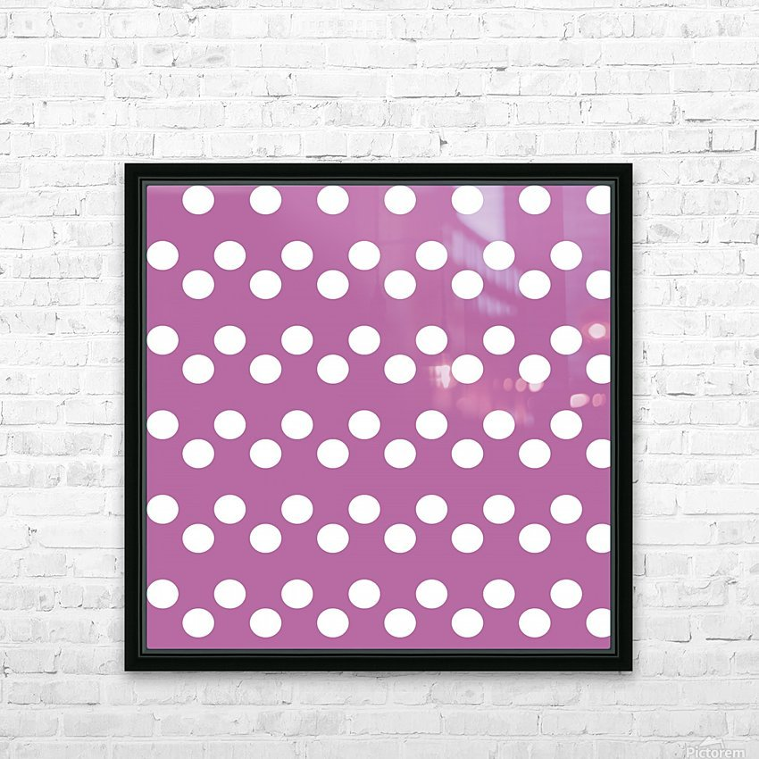 Bodacious Polka Dots HD Sublimation Metal print with Decorating Float Frame (BOX)