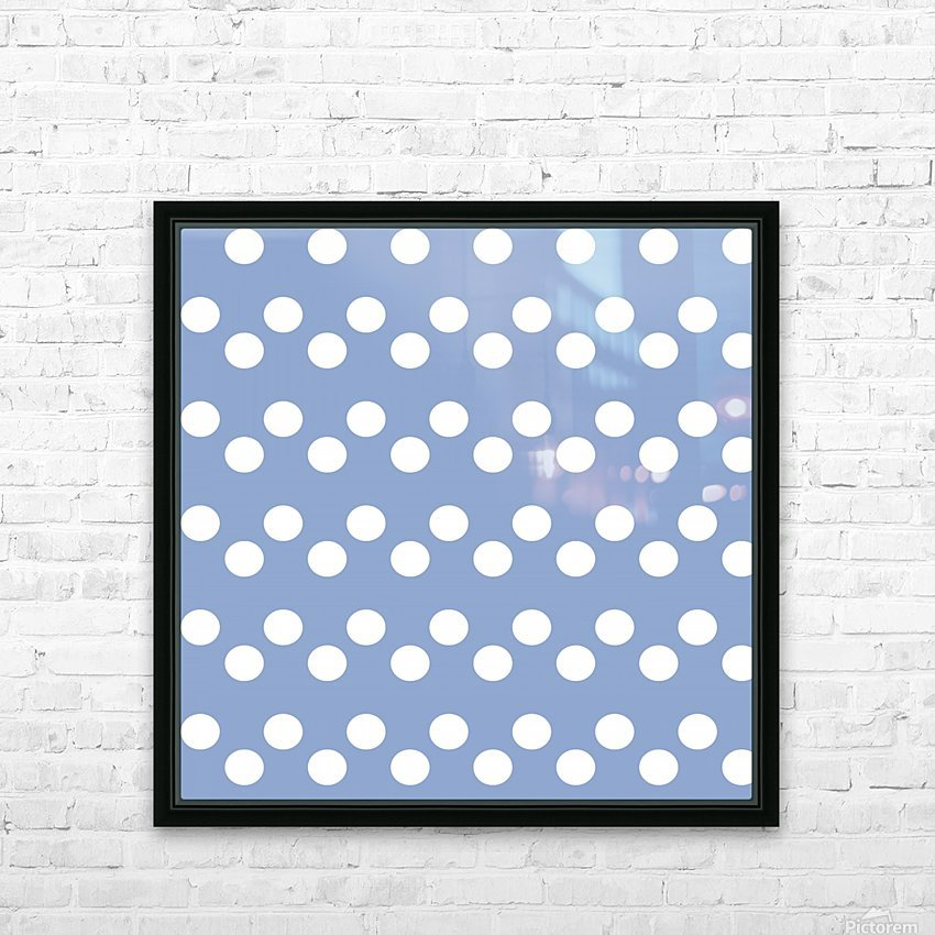 Serenity Polka Dots HD Sublimation Metal print with Decorating Float Frame (BOX)
