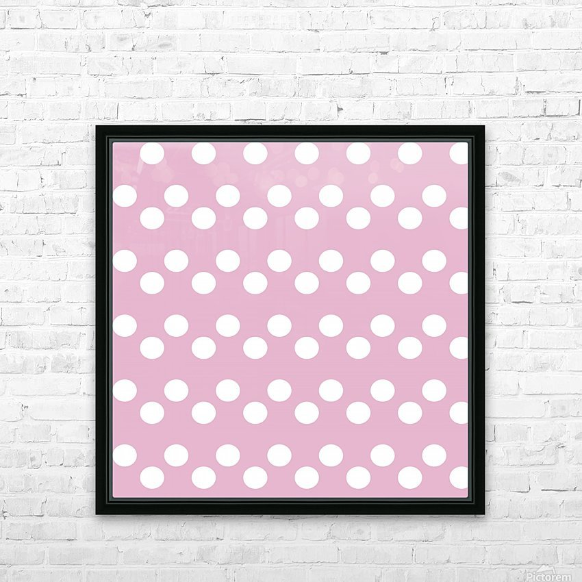 Sweet Lilac Polka Dots HD Sublimation Metal print with Decorating Float Frame (BOX)