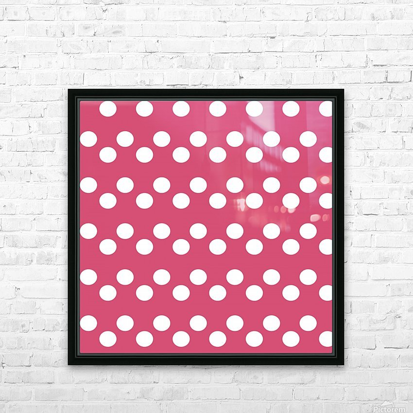 Sweet Pink Polka Dots HD Sublimation Metal print with Decorating Float Frame (BOX)