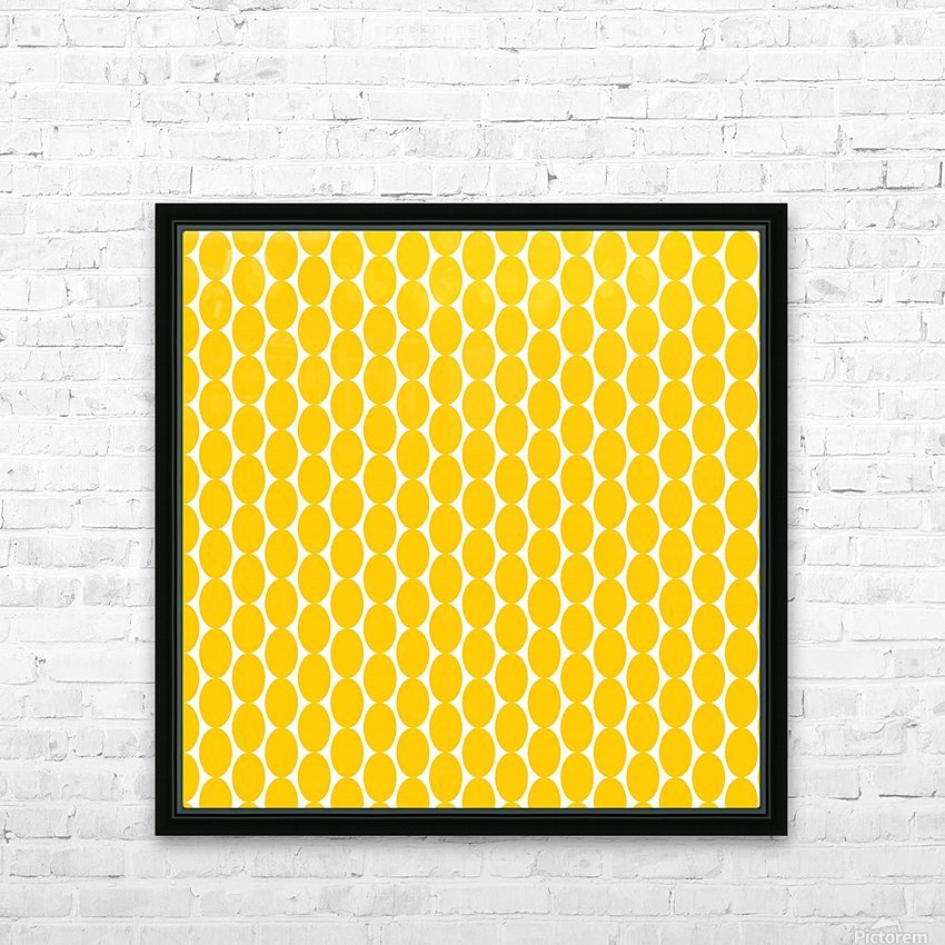 Yellow  egg shape HD Sublimation Metal print with Decorating Float Frame (BOX)
