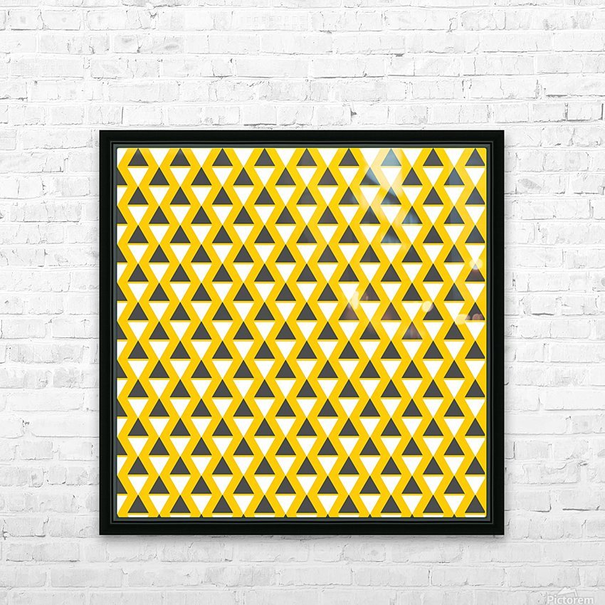 Yellow   pyramid HD Sublimation Metal print with Decorating Float Frame (BOX)