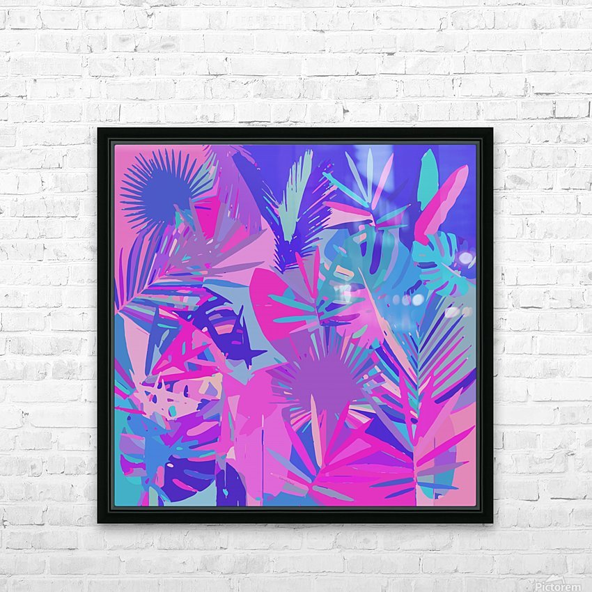 Tropical Leaves Abstract  HD Sublimation Metal print with Decorating Float Frame (BOX)