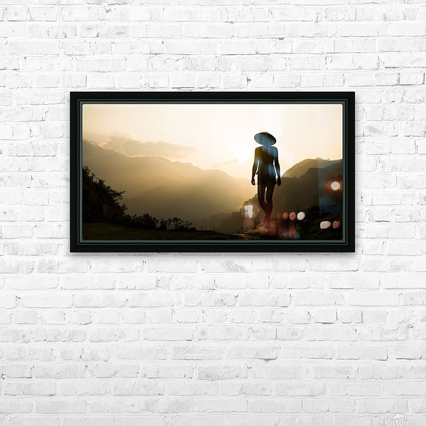SILHOUETTE IN SAPA HD Sublimation Metal print with Decorating Float Frame (BOX)