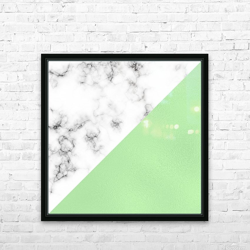 ABSTRACT MODERN GREEN GLASS MARBLE HD Sublimation Metal print with Decorating Float Frame (BOX)