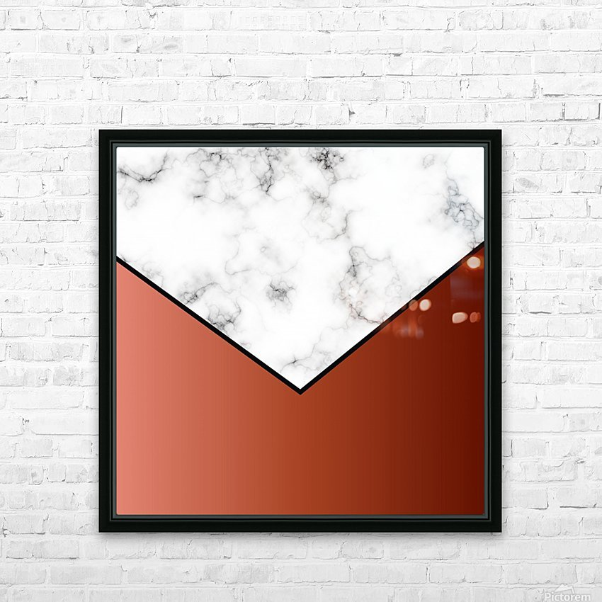 ABSTRACT BRICK MODERN MARBLE HD Sublimation Metal print with Decorating Float Frame (BOX)