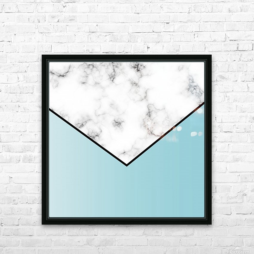 ABSTRACT BLUE TINT MODERN MARBLE HD Sublimation Metal print with Decorating Float Frame (BOX)