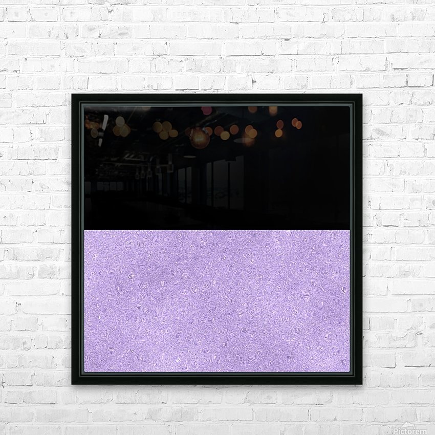 ABSTRACT PURPLE GLITTER HD Sublimation Metal print with Decorating Float Frame (BOX)