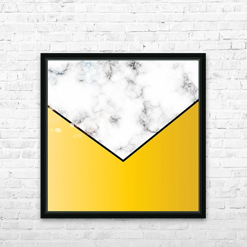 ABSTRACT YELLOW PASTEL MODERN MARBLE HD Sublimation Metal print with Decorating Float Frame (BOX)
