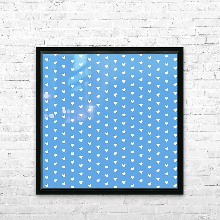 CORNFLOWER Heart Shape Pattern HD Sublimation Metal print with Decorating Float Frame (BOX)