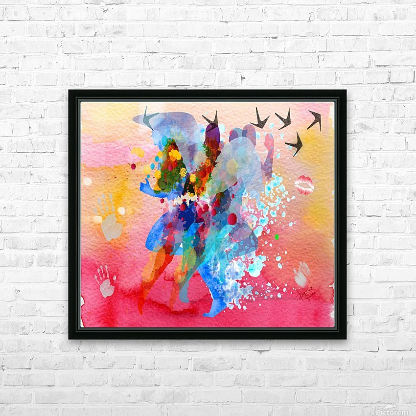 run through Duality of mind  HD Sublimation Metal print with Decorating Float Frame (BOX)