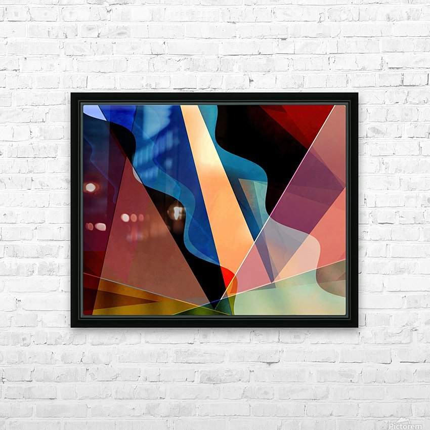 Theater District HD Sublimation Metal print with Decorating Float Frame (BOX)