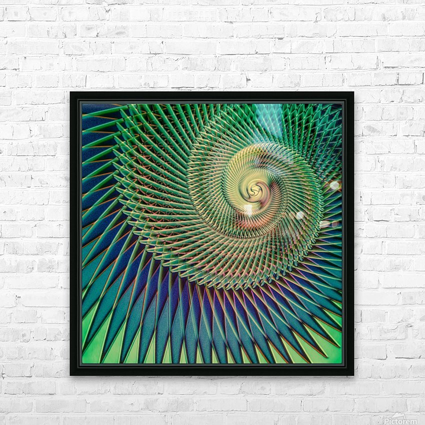 Composition Logarithmique HD Sublimation Metal print with Decorating Float Frame (BOX)