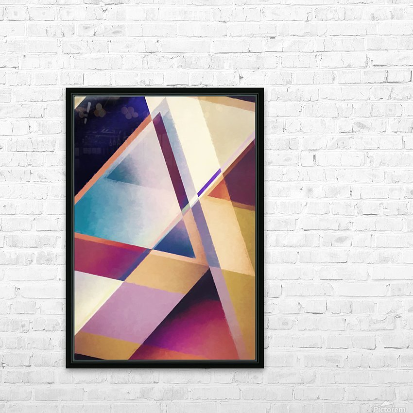 Composition des Pyramides HD Sublimation Metal print with Decorating Float Frame (BOX)