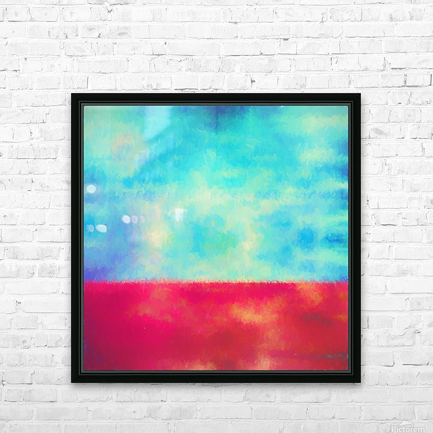 Red Horizon HD Sublimation Metal print with Decorating Float Frame (BOX)