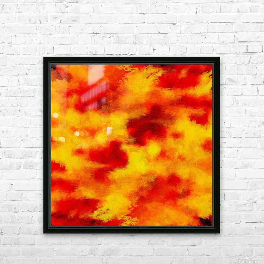 Inferno HD Sublimation Metal print with Decorating Float Frame (BOX)