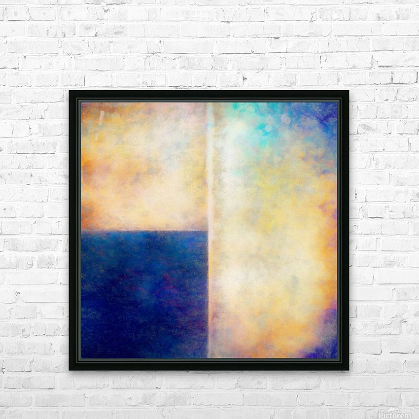 Blue Zone HD Sublimation Metal print with Decorating Float Frame (BOX)