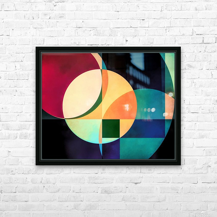 Composition Planétaire HD Sublimation Metal print with Decorating Float Frame (BOX)