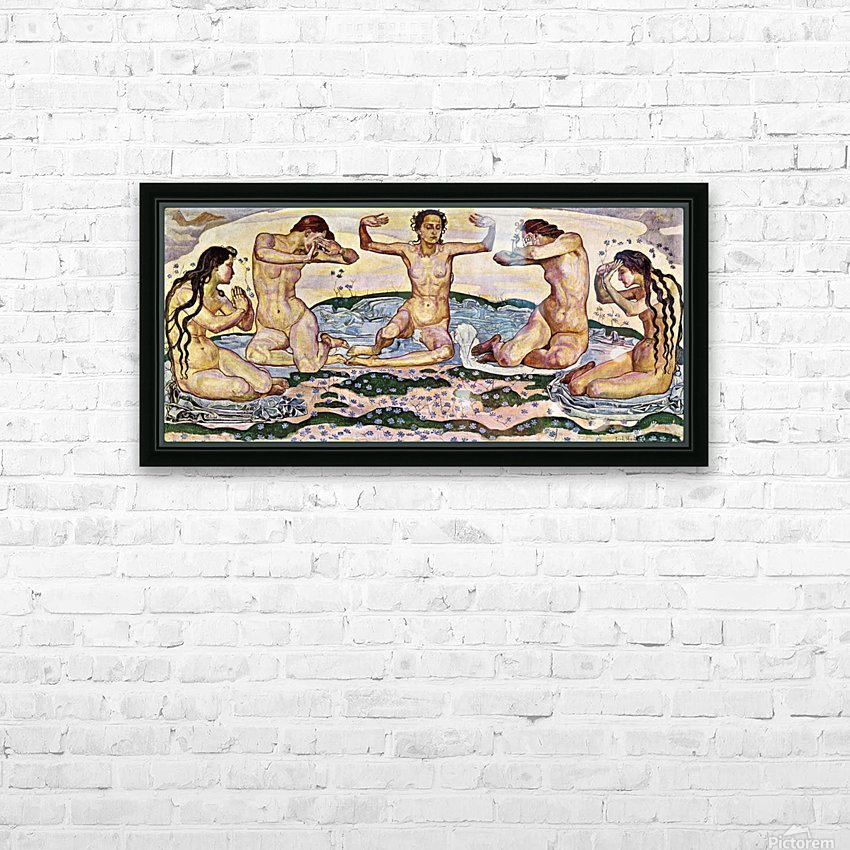 The day by Ferdinand Hodler HD Sublimation Metal print with Decorating Float Frame (BOX)