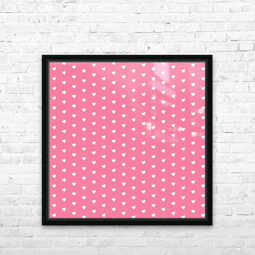 Pink Sherbet Heart Shape Pattern HD Sublimation Metal print with Decorating Float Frame (BOX)