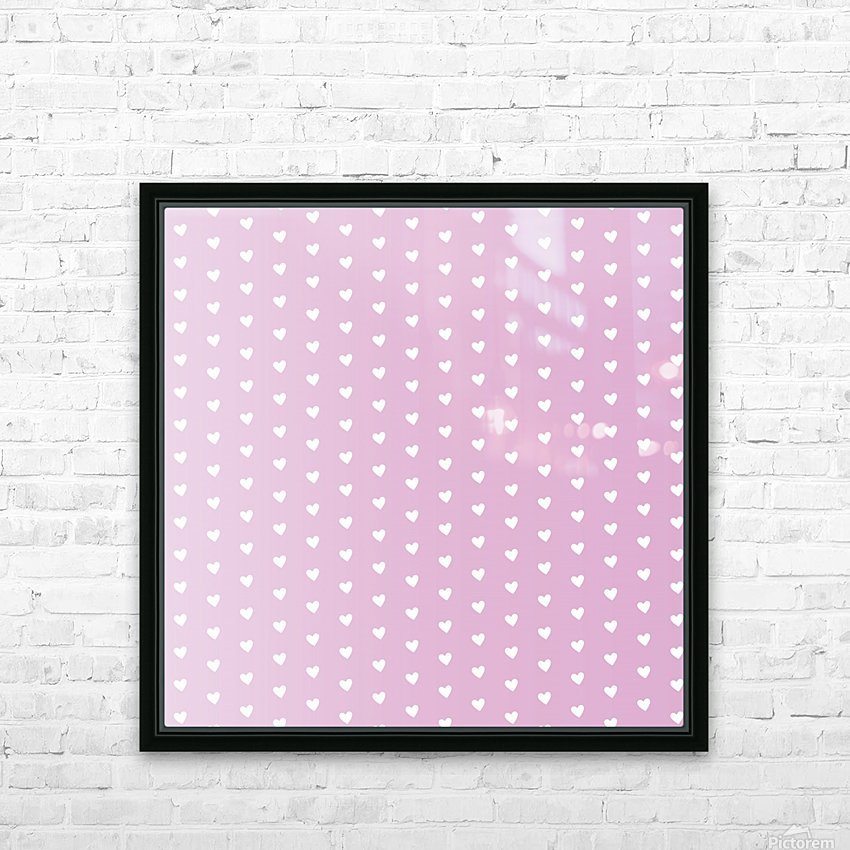Spring Pink Heart Shape Pattern HD Sublimation Metal print with Decorating Float Frame (BOX)