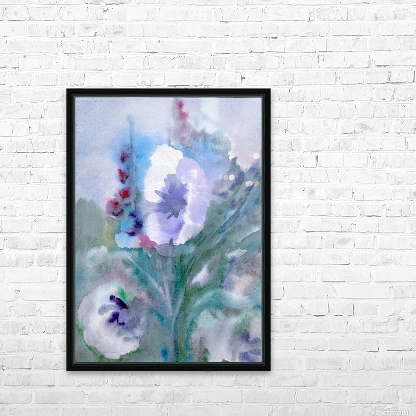 White flower HD Sublimation Metal print with Decorating Float Frame (BOX)