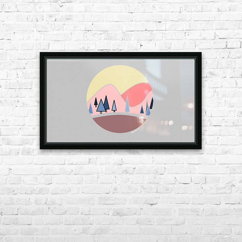Somewhere over the Mountains HD Sublimation Metal print with Decorating Float Frame (BOX)