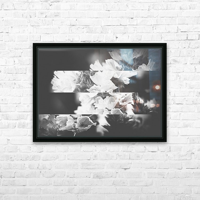 Flower Bells Collage BnW HD Sublimation Metal print with Decorating Float Frame (BOX)