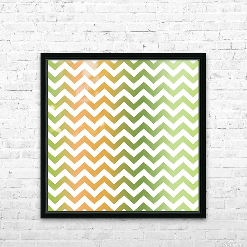 PEAR CHEVRON HD Sublimation Metal print with Decorating Float Frame (BOX)