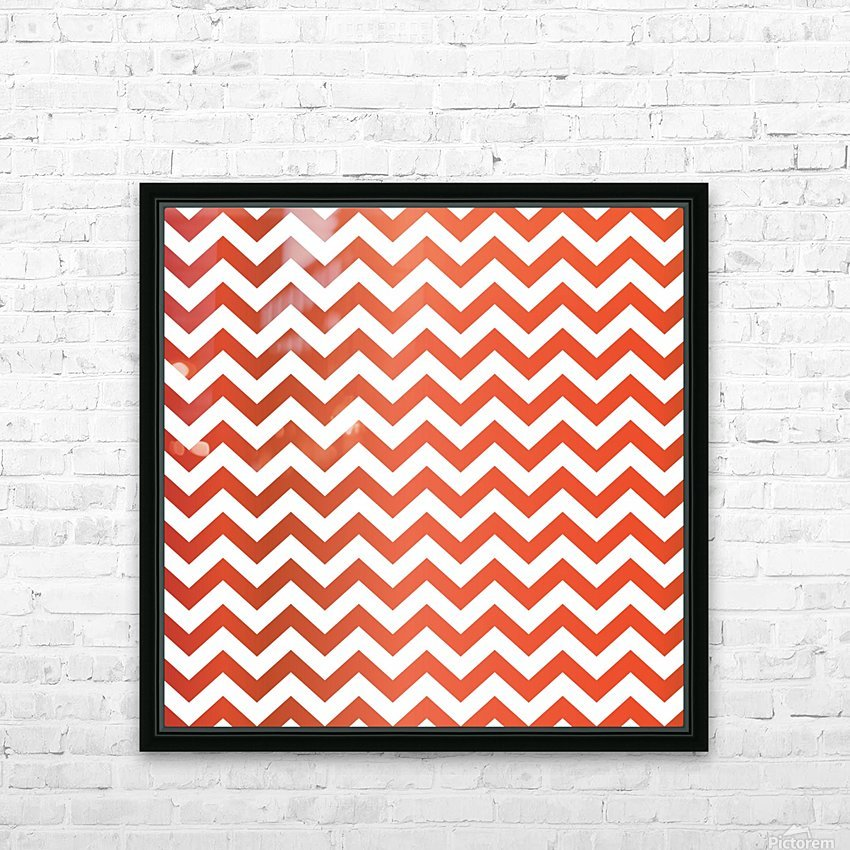 TOMATO CHEVRON HD Sublimation Metal print with Decorating Float Frame (BOX)