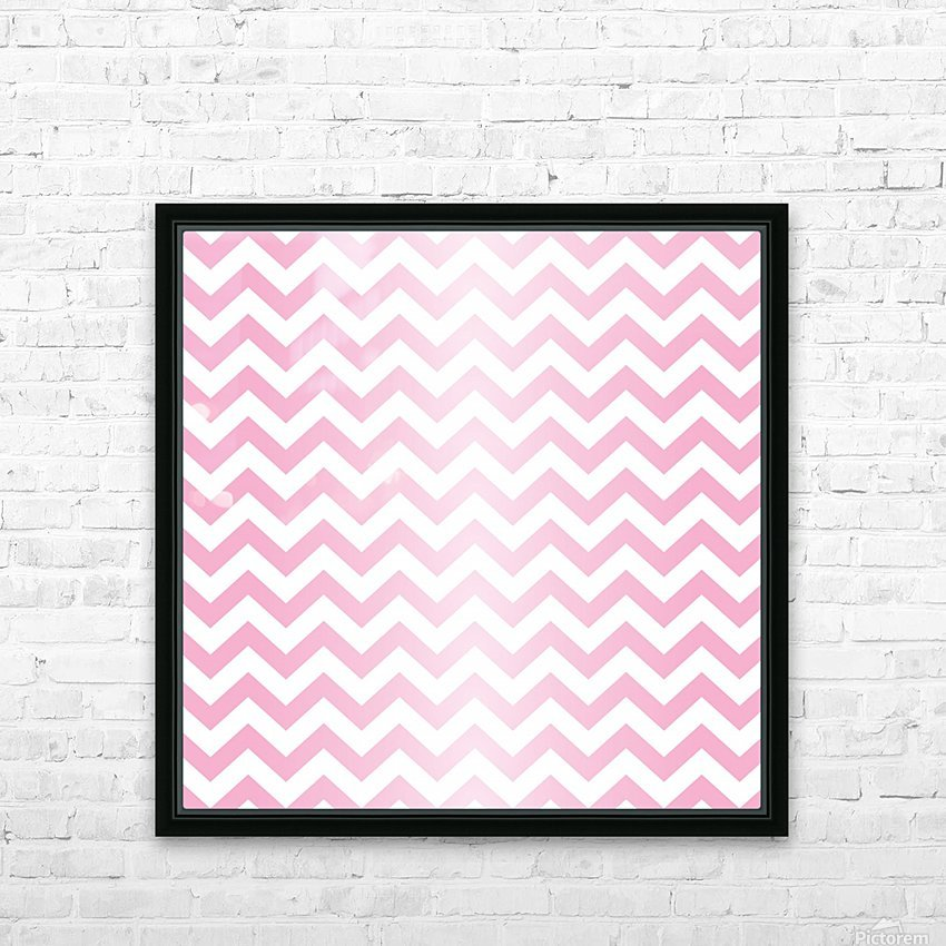 RED RADIAL PASTEL CHEVRON HD Sublimation Metal print with Decorating Float Frame (BOX)