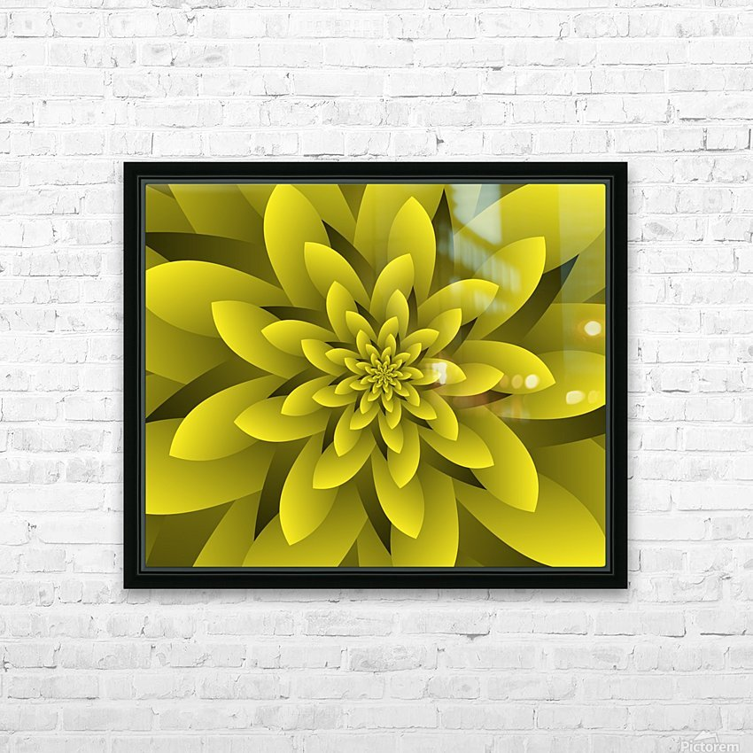 Spring Floral HD Sublimation Metal print with Decorating Float Frame (BOX)