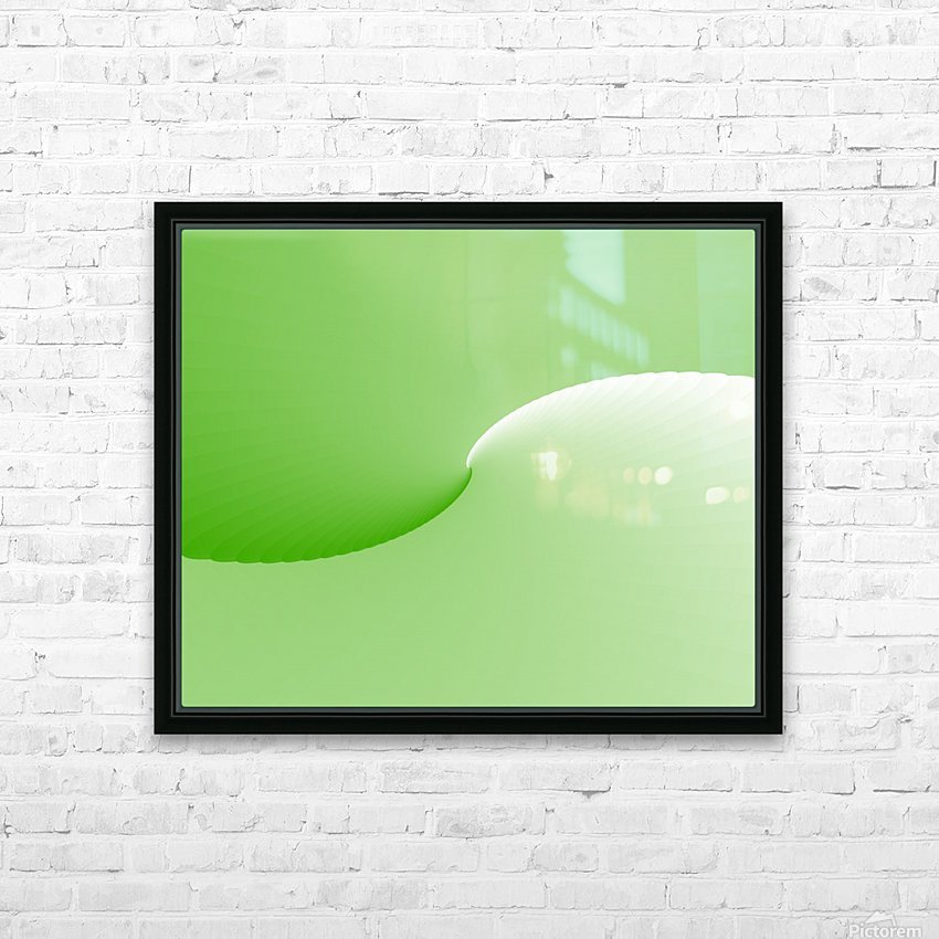 GREEN ABSTRACT  ORIGINAL HD Sublimation Metal print with Decorating Float Frame (BOX)
