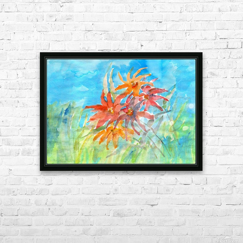 wildflower HD Sublimation Metal print with Decorating Float Frame (BOX)