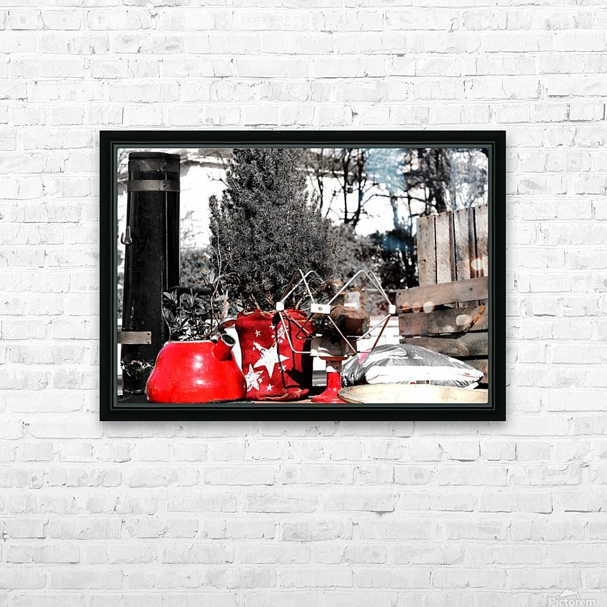 Red Kettle HD Sublimation Metal print with Decorating Float Frame (BOX)