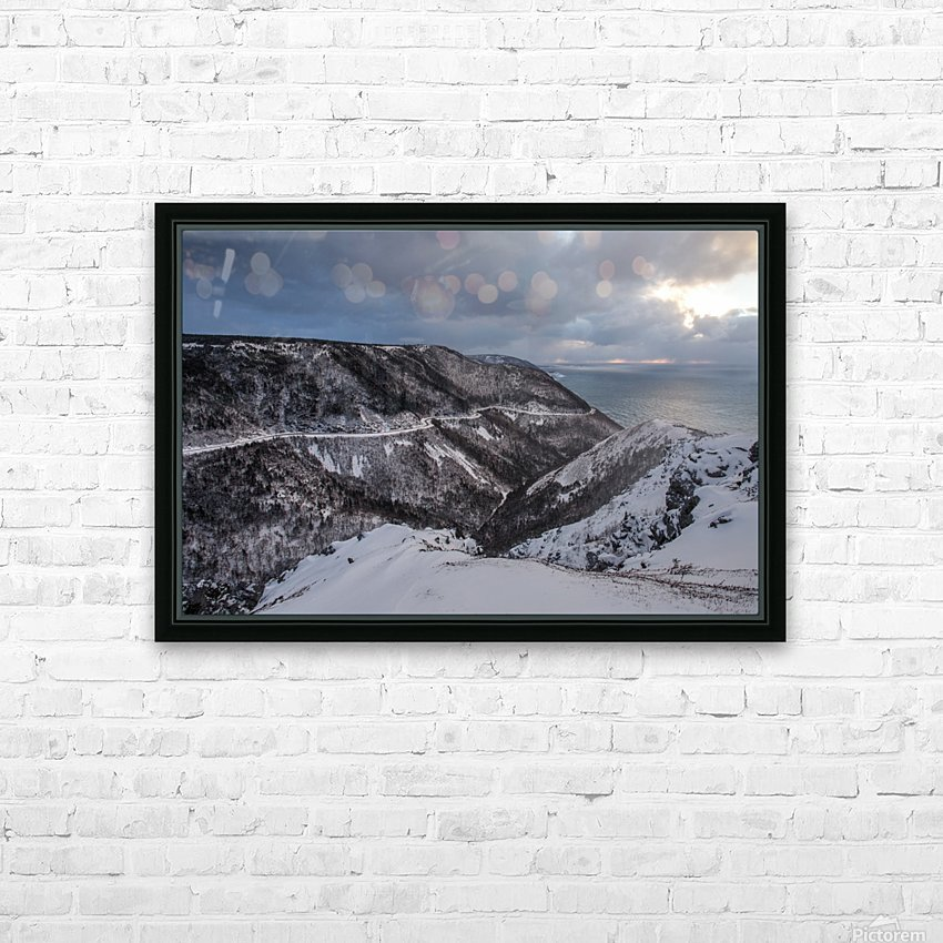 Snowy Skyline HD Sublimation Metal print with Decorating Float Frame (BOX)